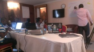 Break out session at the Open Data Party in Calabar
