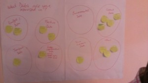 See what kind of data our participants were interested in