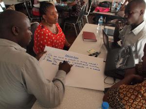 Brainstorming during the workshop