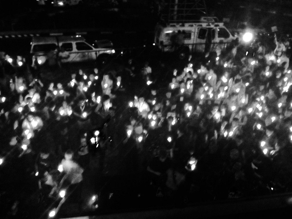 Vigil for the victims of the Amputuan Massacre on the first evening of the conference in Quezon City, Philippines.