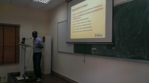 Joshua Olufemi of Premium Times Nigeria sharing skills on telling stories with data