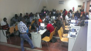 Participants during the Mapping and Data Sprint