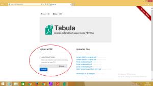Tabula User Interface