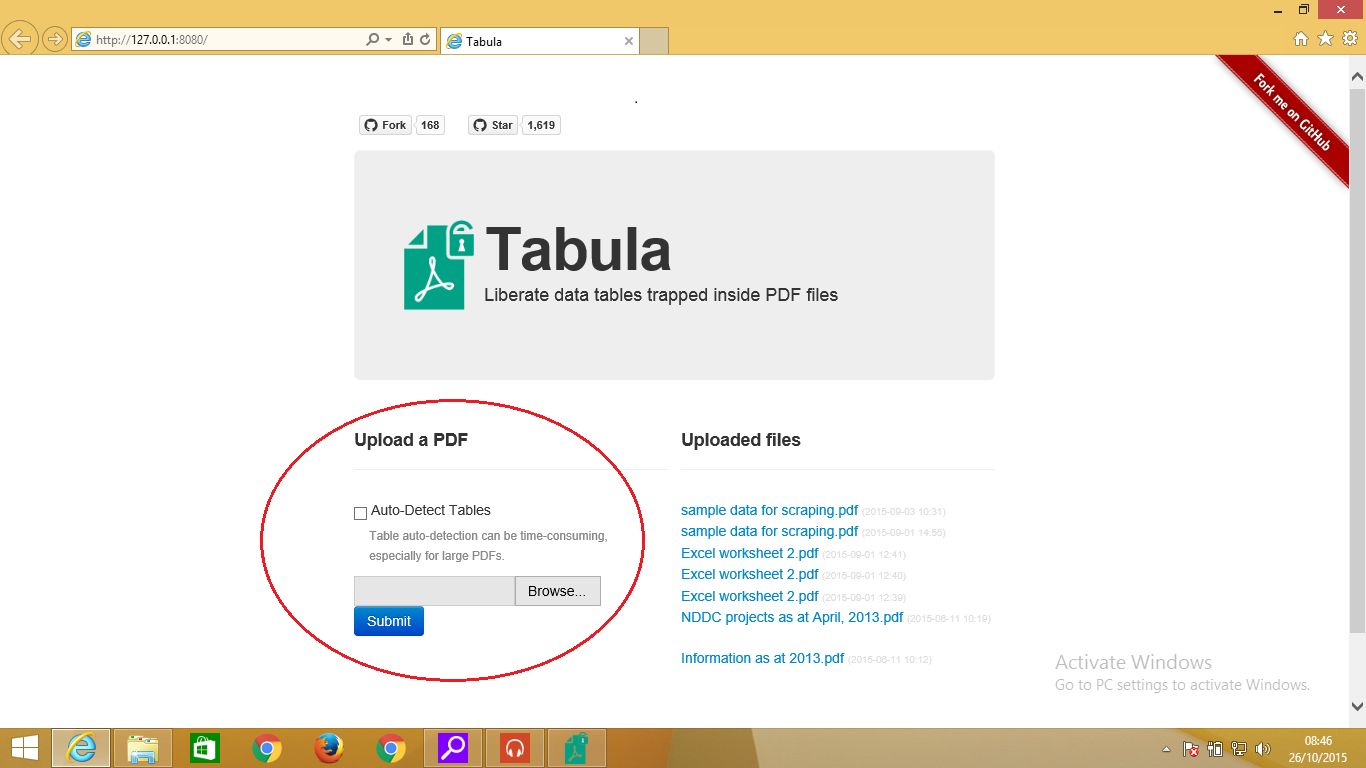 Extracting data from PDFs using Tabula | School of Data - Evidence