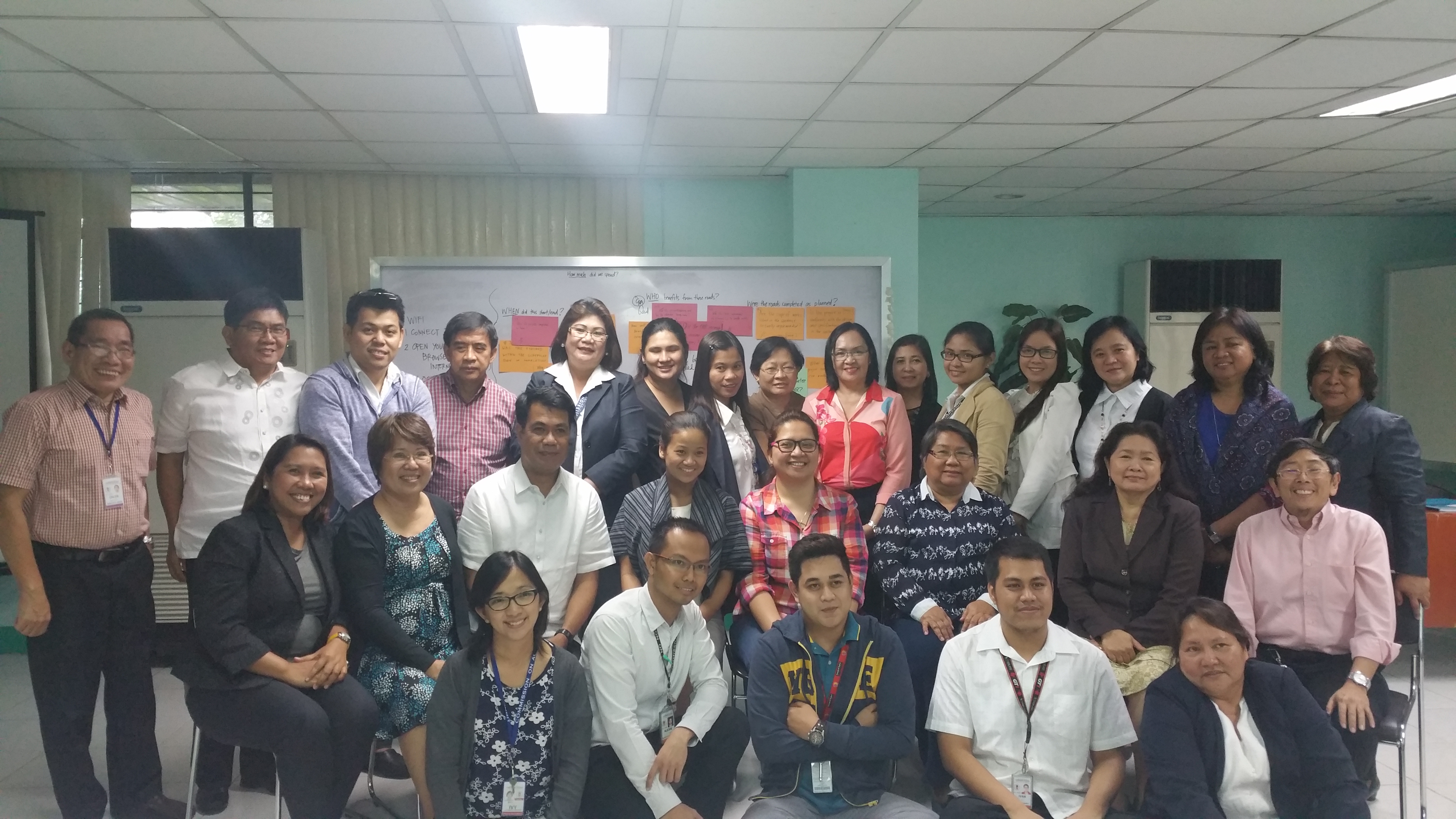 Training participants, organizers and resource persons.
