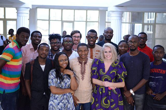 Facilitators at Open Data Party Benin