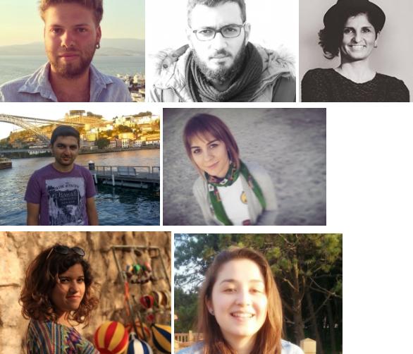From left to right AVVG Board Members: Dersu Ekim Tanca-Kubilay Öztürk-Pınar Dağ-Sadettin Demirel-Merve Kartal-Ecem Boğatemur-Tuğçe Yılmaz /http://www.avvg.org.tr/yonetim-kurulu.html